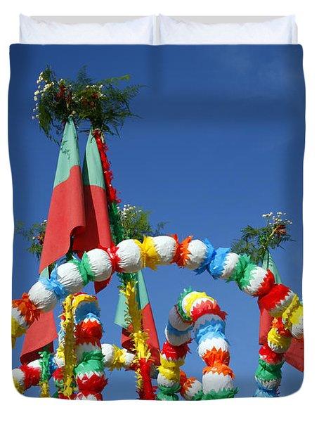 Oxen Cart Decorations Duvet Cover by Gaspar Avila