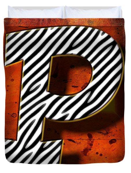 P Duvet Cover by Mauro Celotti
