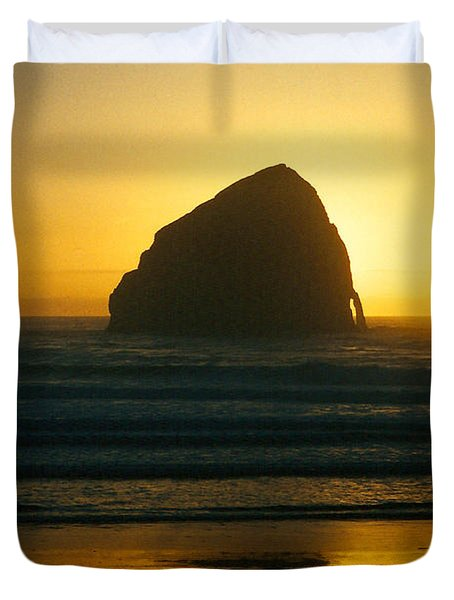 Pacific City Sunset Duvet Cover