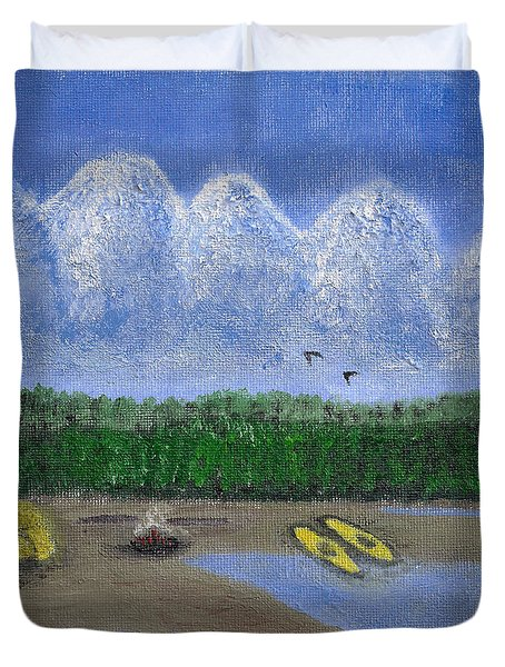 Pacific Northwest Camping Duvet Cover