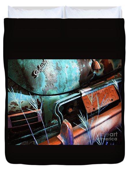 Packard On Ice Duvet Cover by Joe Jake Pratt