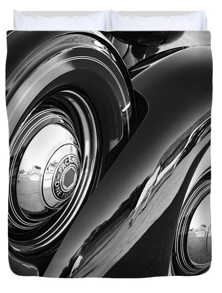 Duvet Cover featuring the photograph Packard One Twenty by Gordon Dean II