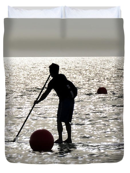 Paddle Boarding Duvet Cover by David Lee Thompson
