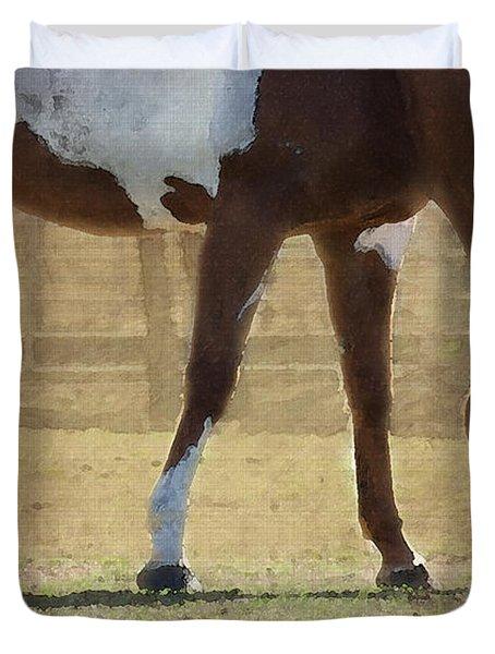 Paint Horse Duvet Cover by Betty LaRue