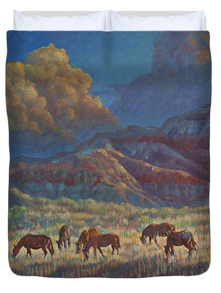 Painted Desert Painted Horses Duvet Cover