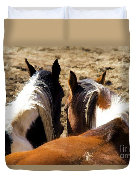 Painted Horses IIi Duvet Cover