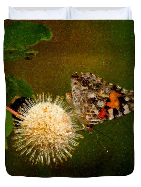 Painted Lady Impasto Duvet Cover by Travis Burgess