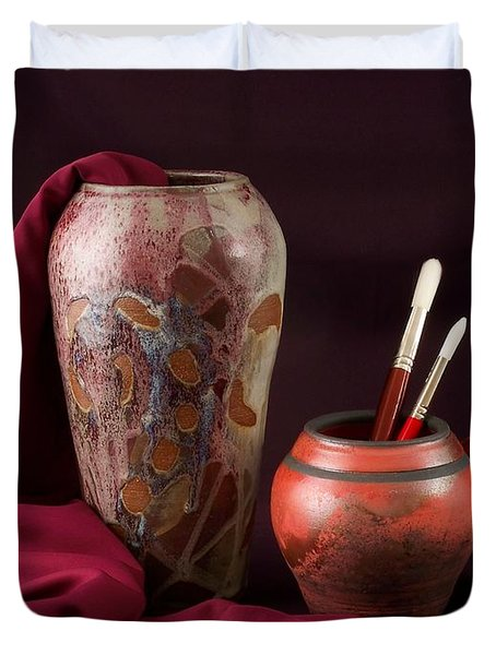 Painterly Pots Duvet Cover