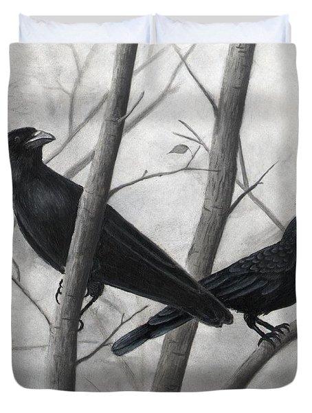 Pair Of Crows Duvet Cover