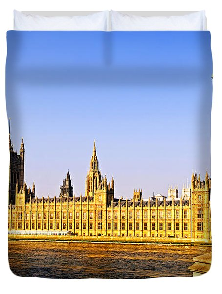 Palace Of Westminster From Bridge Duvet Cover by Elena Elisseeva