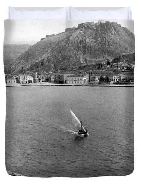 Palamidi Fortress - Greece - C 1907 Duvet Cover