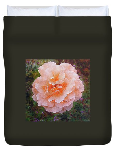 Pale Orange Begonia Duvet Cover
