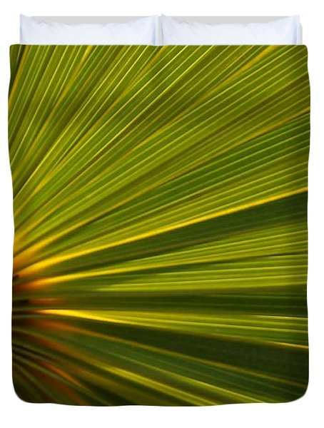 Palm Fron Duvet Cover by Sabrina L Ryan
