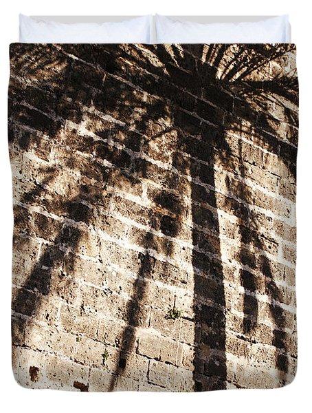 Palm Shadow Duvet Cover