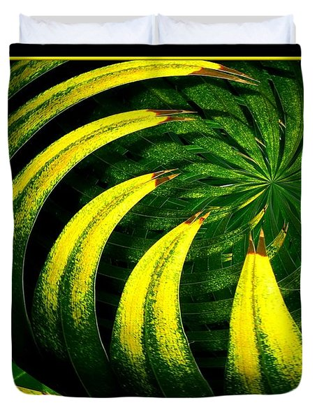 Palm Tree Abstract Duvet Cover by Rose Santuci-Sofranko