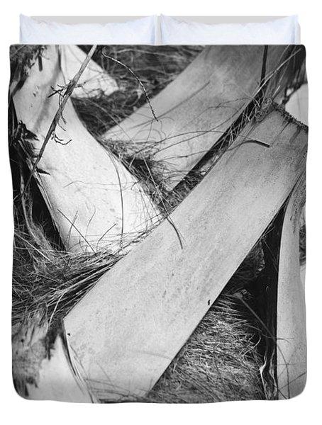 Palm Tree Macro Duvet Cover by Adam Romanowicz