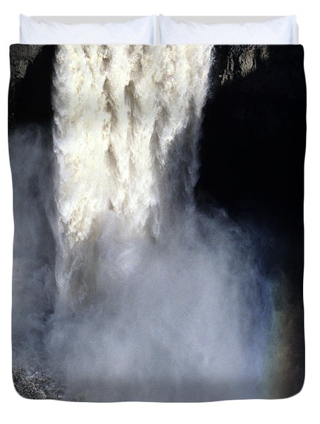 Duvet Cover featuring the photograph Palouse Falls by Sharon Elliott