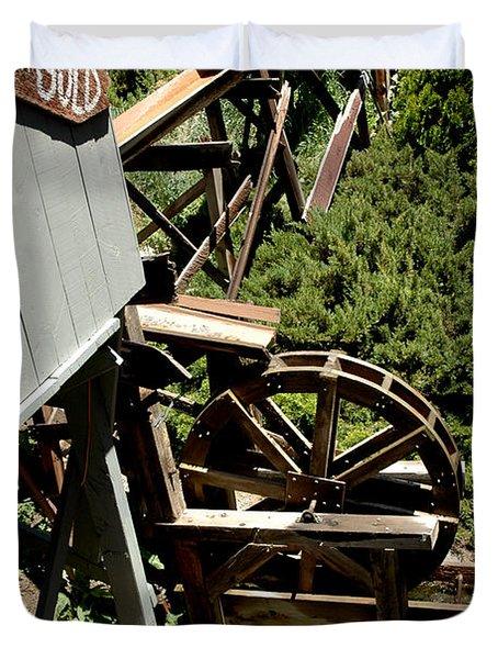 Panning For Gold In Virginia City Nevada Duvet Cover by LeeAnn McLaneGoetz McLaneGoetzStudioLLCcom