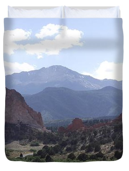 Panoramic Garden Of The Gods Duvet Cover