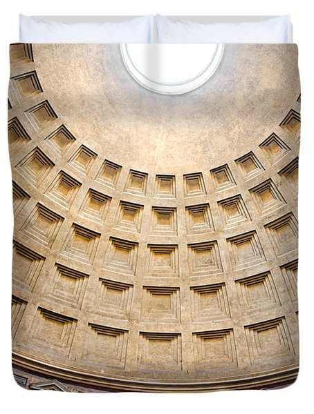 Duvet Cover featuring the photograph Pantheon  by Luciano Mortula