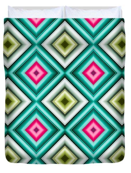 Paper Symmetry 2 Duvet Cover by Hakon Soreide