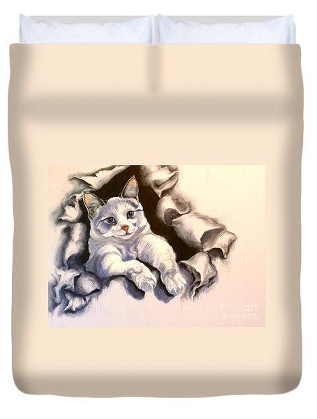 Paper Tiger Duvet Cover