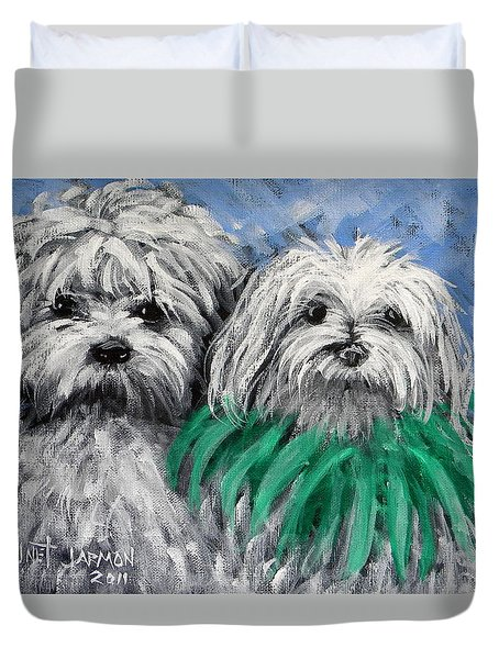 Parade Pups Duvet Cover by Jeanette Jarmon
