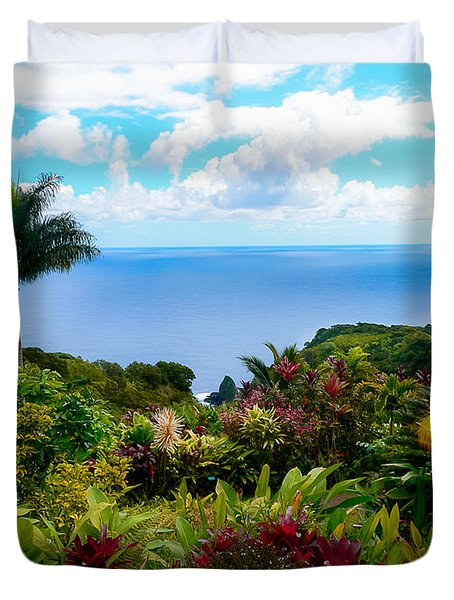 Paradise Found Duvet Cover by Debbie Karnes