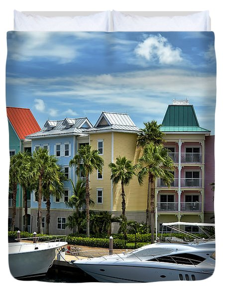 Paradise Island Style Duvet Cover by Steven Sparks