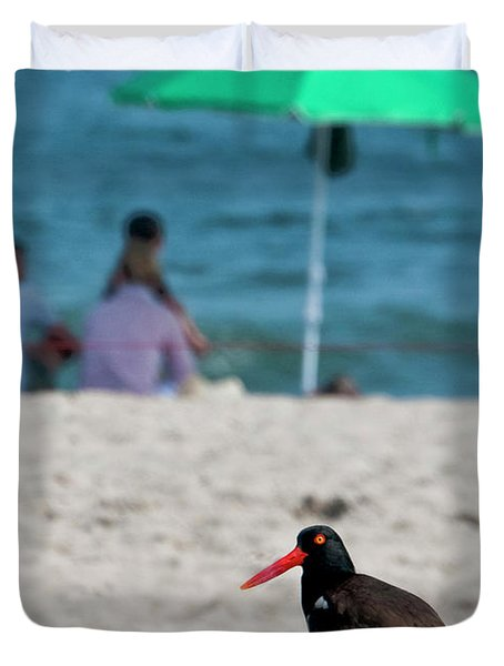 Parenting On A Beach Duvet Cover