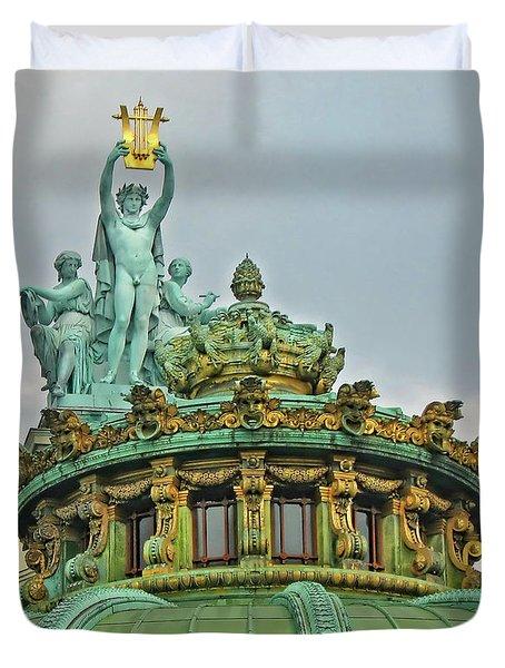 Paris Opera House Roof Duvet Cover