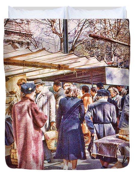 Parisian Market 1954 Duvet Cover