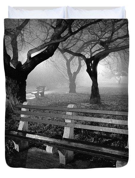 Park Benches Duvet Cover by Gary Heller
