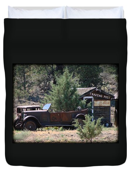 Parked At The Trading Post Duvet Cover by Athena Mckinzie