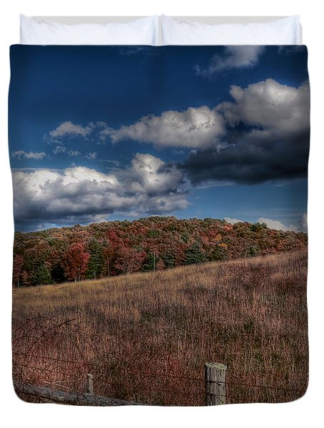 Parkway Fence Duvet Cover by Todd Hostetter
