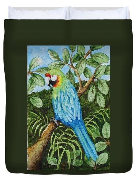 Parrot Duvet Cover by Katherine Young-Beck