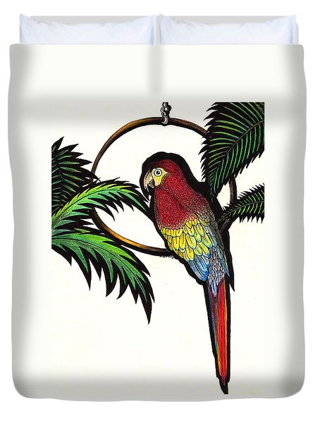 Parrot Shadows Duvet Cover