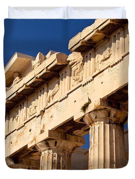 Parthenon Duvet Cover by Brian Jannsen