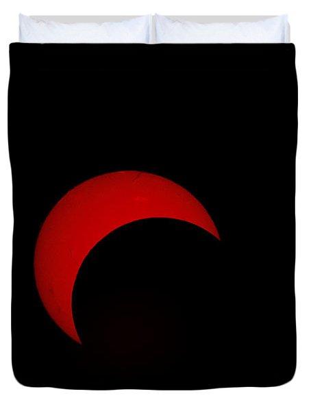 Partial Solar Eclipse Duvet Cover by Phillip Jones