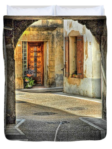 Duvet Cover featuring the photograph Passageway And Arch In Provence by Dave Mills