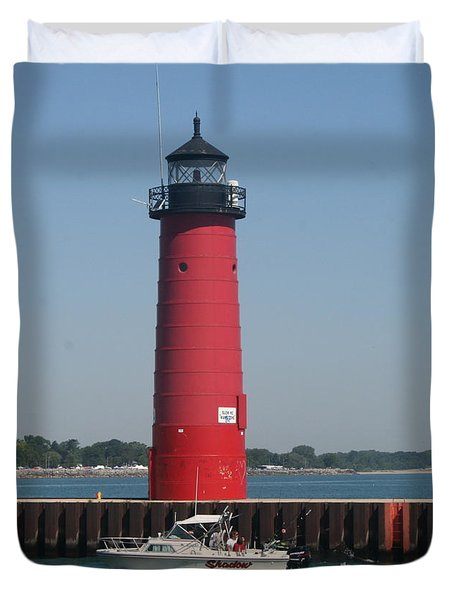Duvet Cover featuring the photograph Passing By by Kay Novy