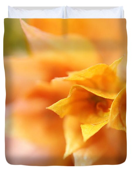 Passion For Flowers. Orange Delight Duvet Cover by Jenny Rainbow