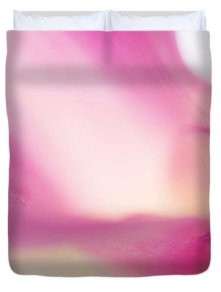 Passion For Flowers. Purple Light Duvet Cover by Jenny Rainbow