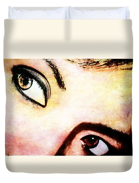 Duvet Cover featuring the photograph Passionate Eyes by Ester  Rogers
