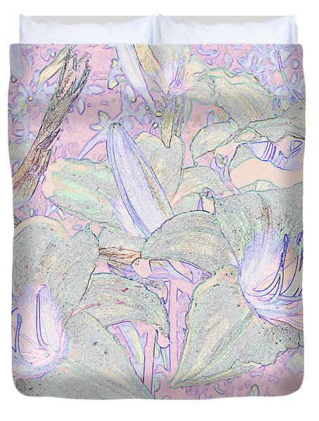 Pastel Lillies Duvet Cover
