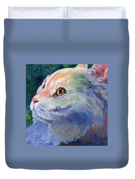 Pastel Persian Duvet Cover by Sherry Shipley