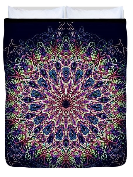 Pastel Pop Mandala Duvet Cover