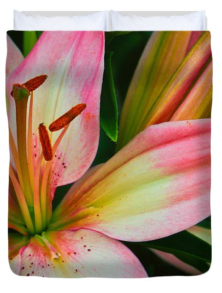 Duvet Cover featuring the photograph Pastel Pretty by Lynne Jenkins