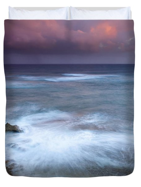 Pastel Storm Duvet Cover by Mike  Dawson