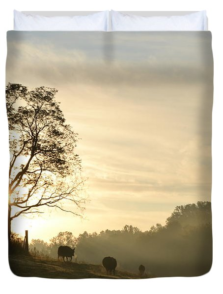 Pasture Sunrise Duvet Cover